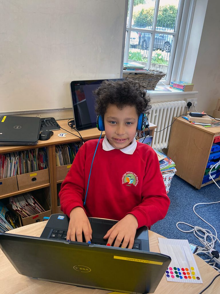 hard working touch typist at stockbridge school